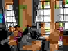 Thí sinh Quảng Trị được đo thân nhiệt khi vào trường