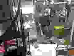 Nhóm thanh niên cầm hung khí đập phá quán trà sữa