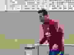 Messi và Coutinho hứng khởi trong buổi tập của Barcelona