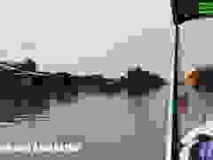 Đi canô trên sông ở Mũi Cà Mau