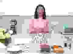 Hoa hậu Ngọc Hân hướng dẫn cách làm bánh nướng, bánh dẻo