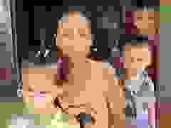 Chị Thái Thị Trúc gửi lời cảm ơn các nhà hảo tâm và báo Dân trí