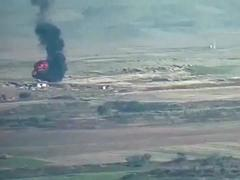 Máy bay không người lái nghi của Azerbaijan bốc cháy do bị bắn rơi