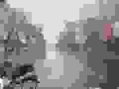 """Bão số 9 đổ bộ, người đàn ông ở Đà Nẵng """"oằn mình"""" trước gió để dắt xe"""