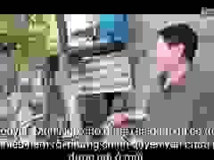 Ông Nguyễn Đình Ngọ lo lắng trước nguy cơ sạt lở uy hiếp tận gia đình mình.