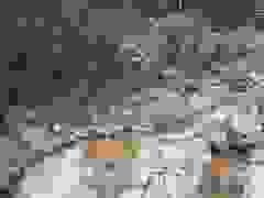 Tập kết rọ đá xuống sông Rào Trăng chuẩn bị ngăn đập nắn dòng
