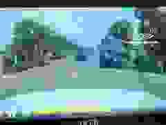 Xe ben lật nghiêng vì đánh lái gấp tránh xe con đi từ trong hẻm sang đường