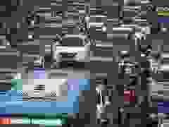 """Giao thông """"nghẹt thở"""" tại tuyến đường sắp có làn ưu tiên xe buýt"""