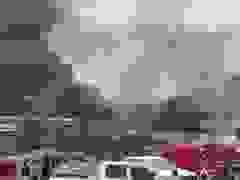 Hình ảnh vụ cháy nổ tại biên giới Việt - Lào