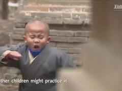 Quá trình khổ luyện của các võ sư nhí tại chùa Thiếu Lâm