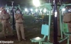 Đoạn clip dụng cụ tập thể dục tự hoạt động được cảnh sát ghi lại