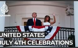 Tổng thống Trump và phu nhân dự sự kiện mừng quốc khánh Mỹ