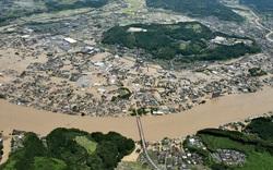 Cảnh đổ nát tại Nhật Bản sau thảm họa mưa lũ khiến 50 người chết