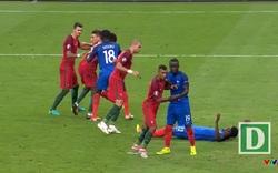 Pháp - Bồ Đào Nha: Phút 103, Eder đánh đầu cận thành khá nguy hiểm, nhưng tài năng của Lloris đã cứu thua cho Pháp