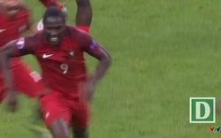 Pháp - Bồ Đào Nha: Phút 109 - Bàn thắng, Koscielny rồi tung cú đá căng sệt hạ Lloris từ cự ly 25m, mở tỷ số 1-0 cho Bồ Đào Nha