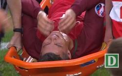 Ronaldo giàn giụa nước mắt rời sân ngay đầu trận chung kết Euro 2016