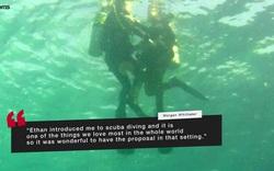 Video về màn cầu hôn dưới đáy biển của Ethan Studenic