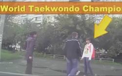"""Nữ vô địch Taekwondo thế giới """"ra chân"""" khi chứng kiến chuyện bất bình"""