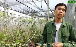 Anh Huỳnh Đức Tài chia sẻ về sự bén duyên với nghề trồng lan rừng
