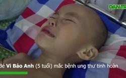 Nỗi đau quá sức chịu đựng của bé 5 tuổi ung thư tinh hoàn