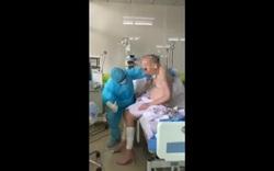 Bệnh nhân Covid-19 nặng nhất nước đã có thể ngồi dậy, đung đưa cả 2 chân
