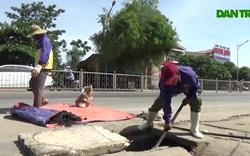 Người dân TP Vinh (Nghệ An) mưu sinh dưới nắng nóng gần 40 độ C