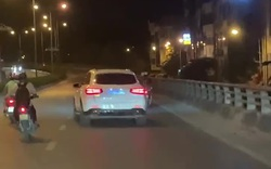 Tài xế xe sang lạng lách, gây tai nạn cho người đi đường