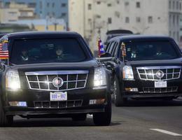 """Giải mã biển số đặc biệt của xe """"Quái thú"""" chở Tổng thống Trump"""