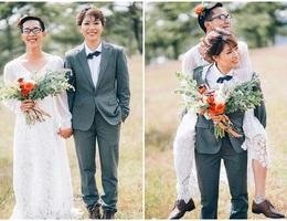 """Ảnh cưới hoán đổi vị trí cô dâu – chú rể của cặp đôi tính cách """"ngược chiều"""""""