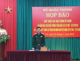 Họp báo thông tin kỷ niệm Ngày hội Quốc phòng toàn dân và Ngày thành lập QĐND Việt Nam