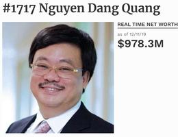 """""""Đại gia Masan"""" Nguyễn Đăng Quang bất ngờ rời danh sách tỷ phú USD"""
