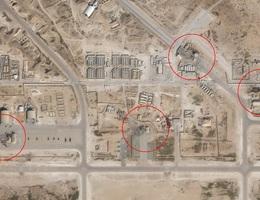 Ảnh vệ tinh cho thấy thiệt hại của căn cứ Mỹ sau vụ tấn công của Iran