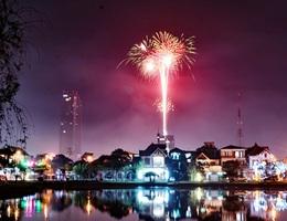 Hà Tĩnh bắn pháo hoa tại 3 điểm đón Tết Canh Tý 2020