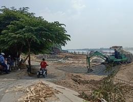 """14 hộ dân bị sông Hậu """"nuốt"""" nhà: Người thấp thỏm chờ nhà, người âu lo nợ nần"""
