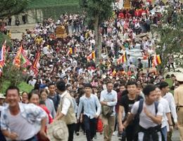 Tạm dừng Lễ khai hội chùa Tam Chúc và lễ khai mạc Lễ hội đền Trần - Thái Bình