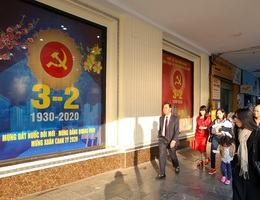 Hà Nội rực rỡ cờ, hoa mừng 90 năm Ngày thành lập Đảng