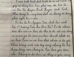 Xúc động những bức thư từ tâm dịch Sơn Lôi hồi âm học sinh Hà Nội
