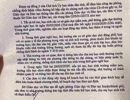 Giả mạo công văn cho học sinh Thái Bình nghỉ học hết tháng 3