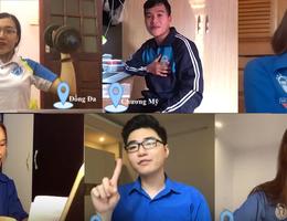 Sinh viên ĐH Mở Hà Nội vừa học trực tuyến vừa hát Đoàn ca