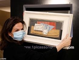 Giành được bức họa Picasso hơn 25 tỷ đồng nhờ tấm vé số con trai tặng
