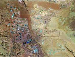 Mỏ khoáng sản rộng lớn ở sa mạc Atacama nhìn từ không gian