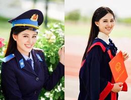 Nữ sinh 2 lần thi hoa hậu, tốt nghiệp Học viện Cảnh sát loại giỏi