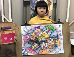 Cô bé Việt vẽ tranh về dịch Covid-19 được hãng tin quốc tế đưa tin