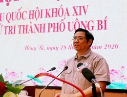 Trưởng Ban Tổ chức Trung ương tiếp xúc cử tri tại TP Uông Bí
