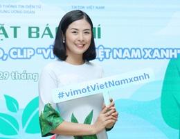 """Hoa hậu Ngọc Hân tham gia cuộc thi làm video """"Vì một Việt Nam xanh"""""""