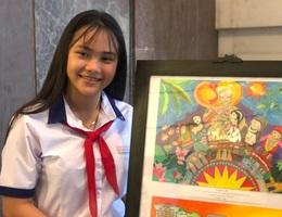 Nữ sinh lớp 7 Bến Tre giành 3 giải lớn ở cuộc thi thu hút học sinh cả nước