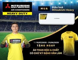 Mua điều hoà Mitsubishi Heavy, nhận áo phông có chữ ký của thủ môn Đặng Văn Lâm