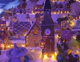 Thành phố Giáng sinh tuyệt đẹp làm từ 95 tấn bánh gừng