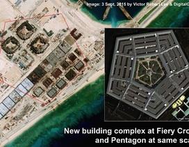 """Trung Quốc xây """"Lầu Năm Góc"""" trên bãi Chữ Thập"""