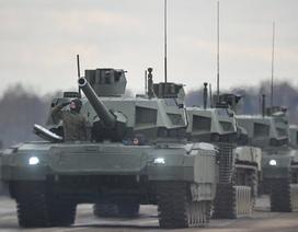 Siêu tăng Armata của Nga phô diễn uy lực trên trường bắn
